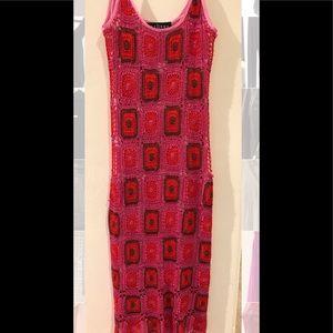 Sue Wong Midi crochet dress